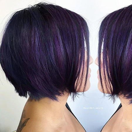 Purple-Hair New Bob Hairstyles 2019
