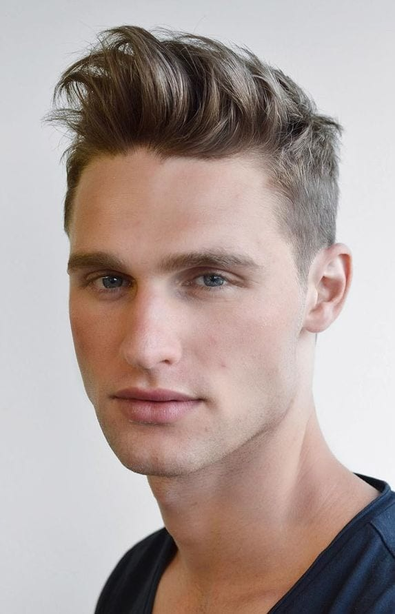 Quiff-Style-Man-Hair Selected Hairstyles for Men With Big Foreheads