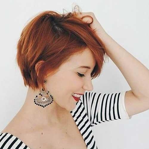 Red-Pixie-Hair New Cute Hairstyle Ideas for Short Hair
