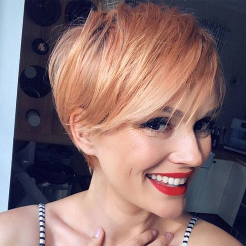 Rose-Gold-Blonde Latest Short Haircuts for Women 2019
