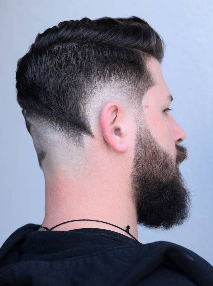 Shadowed-Low-Fade Unique Haircut Designs for Men