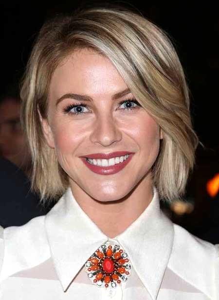 Short-Blonde-Cute-Bob Beautiful Short Celebrity Hairstyles
