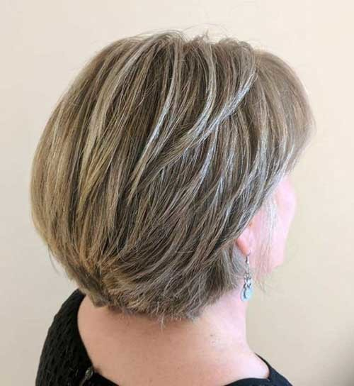 Short-Blonde-Hair-To-Grey Short Haircuts for Older Women 2019