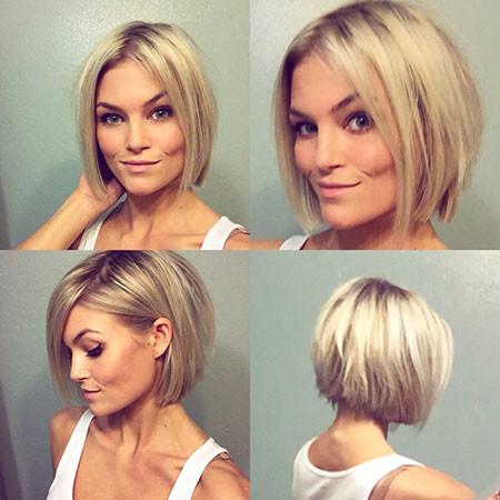 Short-Bob-Look Popular Short Blonde Hair 2019