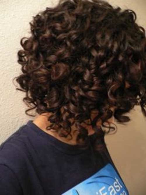 Short-Bob-Naturally-Curly-Hair-Back-View Good Short Natural Curly Haircuts
