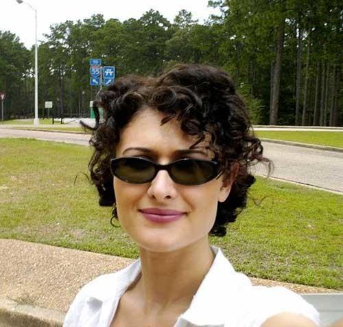 Short-Curly-Pixie-with-Dark-Hair-Style Short Hairstyles for Dark Hair