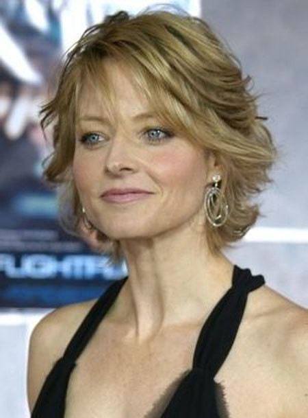 Short-Light-Brown-Thin-Bangs Short Hair for Older Women