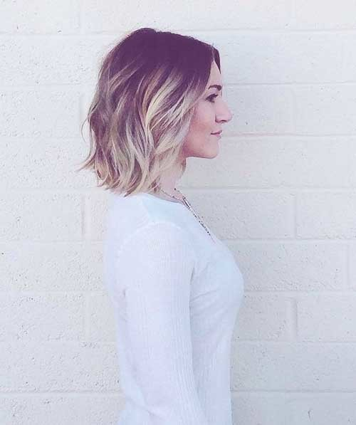 Short-Ombre-Bob-Hairstyle-for-Girls-Side-View Beautiful Ombre Bob Hairstyles