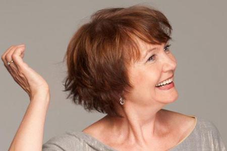 Short-Simple-Layered-Bob Short Hair for Older Women