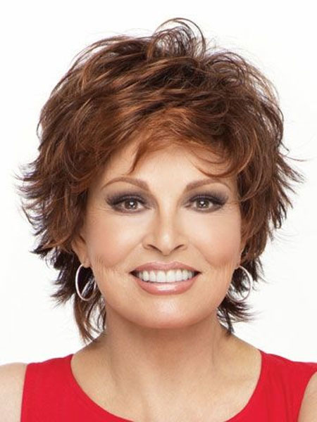 Short-Spiked-Voluminous-Red-Hair Short Hair for Older Women