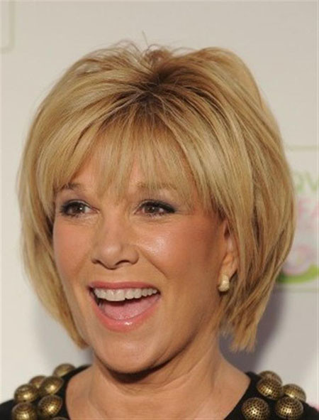 Short-Straight-Simple-Bangs Short Hair for Older Women