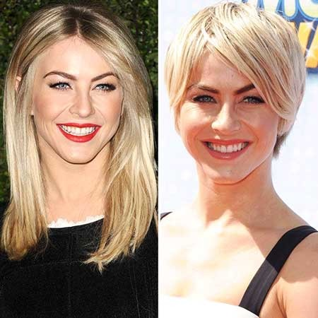 Short-Straight-Simple-Look Beautiful Short Celebrity Hairstyles