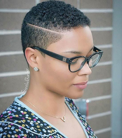 Side-Shaved-Super-Pixie Best Short Hair Cuts on Black Women in 2019