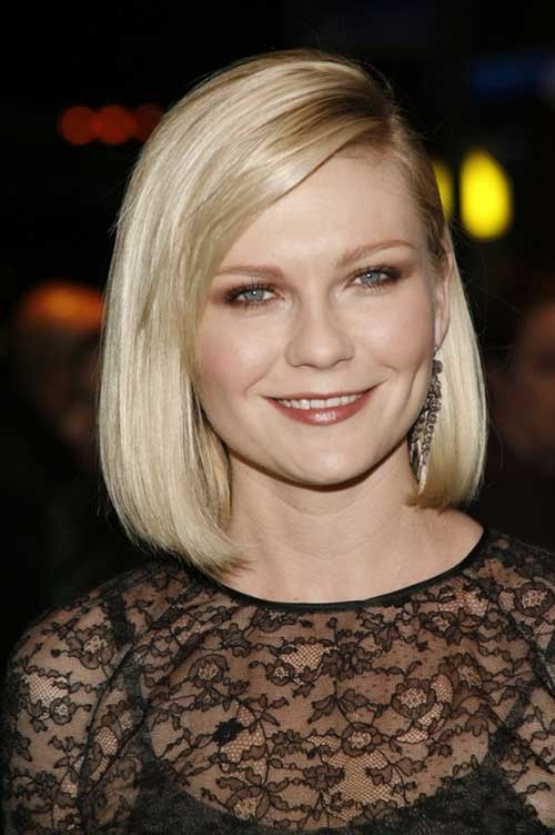 Side-Swept-Hairstyle-for-Fat-Round-Faces Bob Cuts for Round Faces