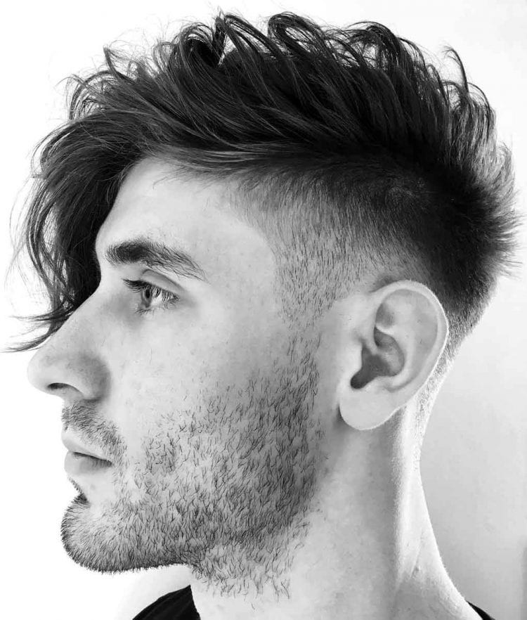 Side-Swept-Undercut-Faux-Hawk Stylish Undercut Hairstyle Variations in 2019: A Complete Guide