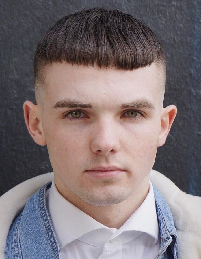 Simple-Fringe Selected Hairstyles for Men With Big Foreheads