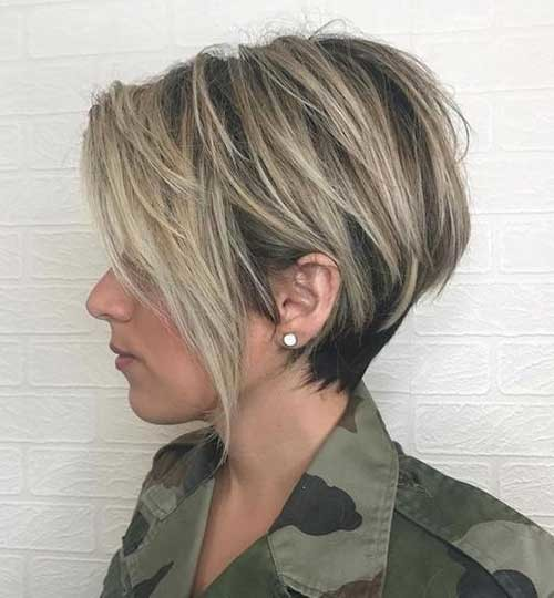 Straight-Long-Pixie-Hairstyle Must-See Straight Hairstyles for Short Hair