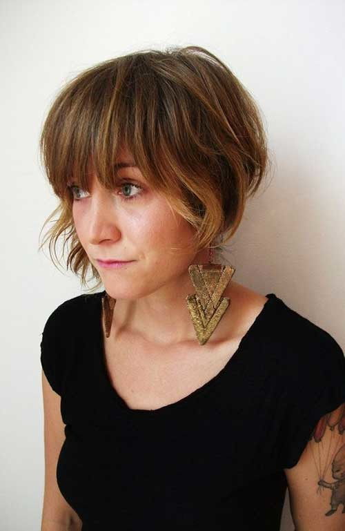 The-Best-Bob-Cut-with-Thick-Bangs Short Bob Haircut with Bangs