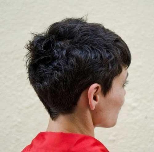 Very-Short-Pixie-on-Dark-Hair-Back-View Short Hairstyles for Dark Hair