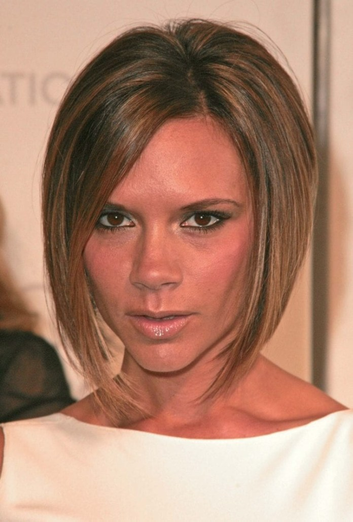 Victoria-Beckhams-Angular-Bob Hairstyles for Women Over 40