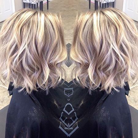 Wavy-Hairtyle Popular Short Blonde Hair 2019