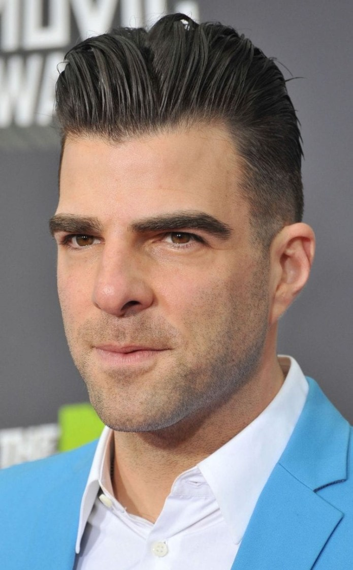 Zachary-Quinto-undercut-quiff-hairstyle Stylish Undercut Hairstyle Variations in 2019: A Complete Guide