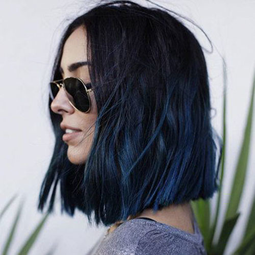 20-blue-black-short-hair Popular Short Blue Hair Ideas in 2019