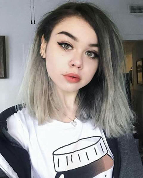 21-blue-ombre-short-hair Popular Short Blue Hair Ideas in 2019
