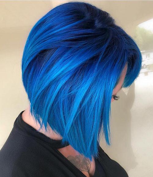 24-blue-hairstyles-for-short-hair Popular Short Blue Hair Ideas in 2019