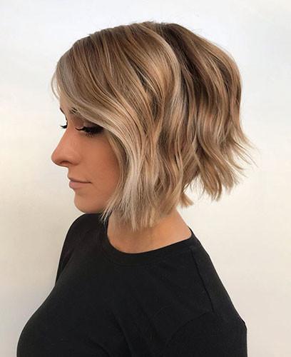 32-choppy-layered-bob Latest Bob Haircut Ideas for 2019