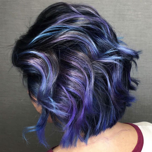 34-purple-and-blue-short-hair Popular Short Blue Hair Ideas in 2019
