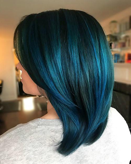 37-black-and-blue-short-hair Popular Short Blue Hair Ideas in 2019
