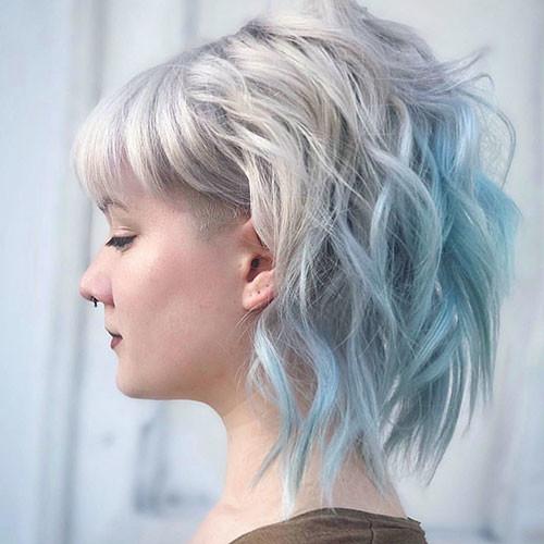 39-short-light-blue-hair Popular Short Blue Hair Ideas in 2019