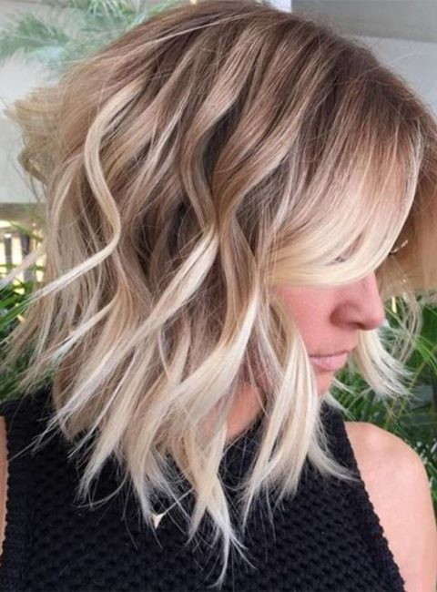 40-short-brown-hair-with-blonde-highlights Beautiful Brown to Blonde Ombre Short Hair