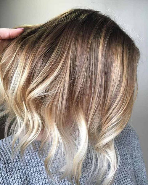45-short-brown-hair-with-blonde-highlights Beautiful Brown to Blonde Ombre Short Hair