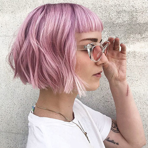 77-bob-haircuts-with-bangs Latest Bob Haircut Ideas for 2019