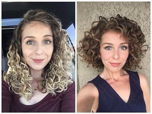 Amazing-Before-and-After-Curly-Hair Curly Bob Hairstyles for Chic Women