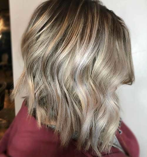 Angled-Blonde-Bob Striking Short Hair Ideas for Blondies