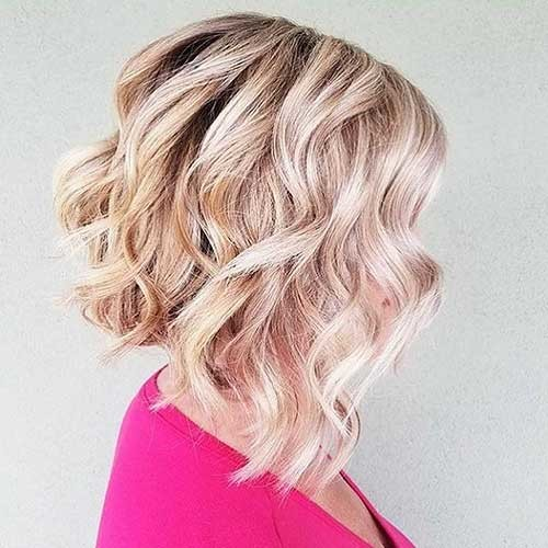 Angled-Bob-1 Most Magnetizing Hairstyles for Curly and Wavy Hair