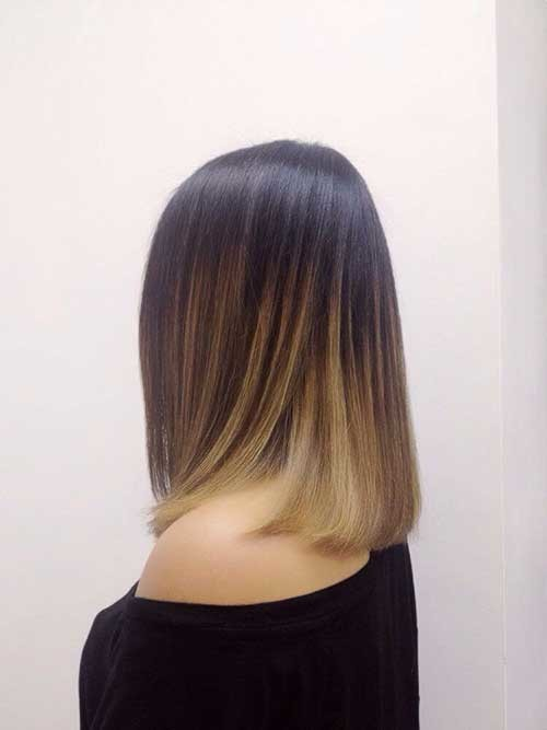 Ash-Ombre-Short-Hair Short Hairstyle Options for Fine Haired Ladies
