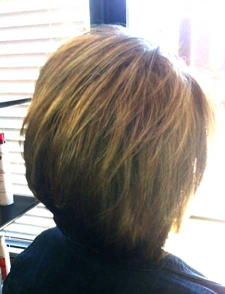 Back-View-of-Simple-Bob-Hairstyle-with-Bangs Pics of Bob Hairstyles 2019