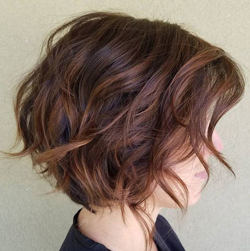 Balayage-Short-Brown-Hairstyle Short Brown Hairstyles for Fashionable Women