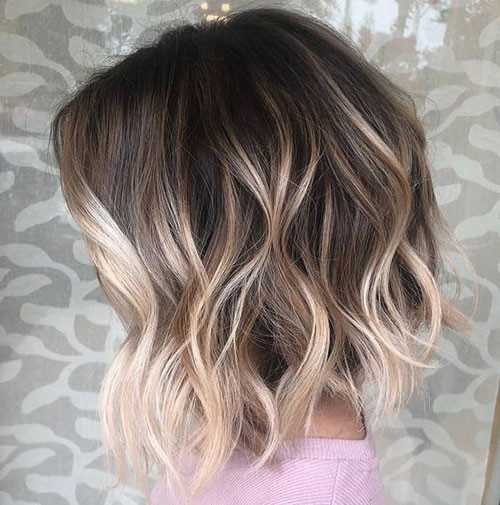 Blonde-Ombre Best Wavy Bob Hairstyles You will Like