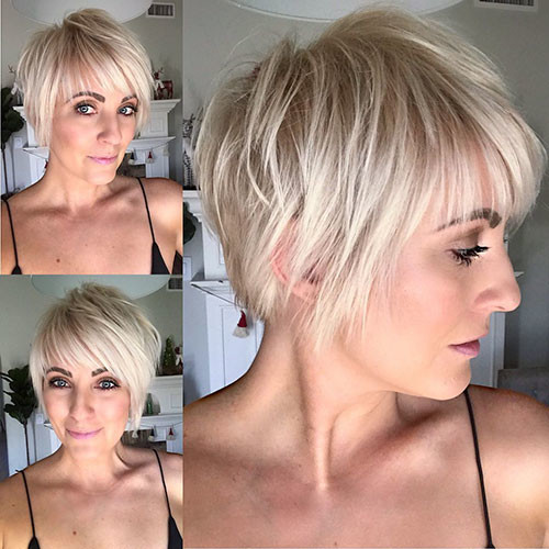 Blonde-Pixie-Cut-Hair Best Short Layered Pixie Cut Ideas 2019