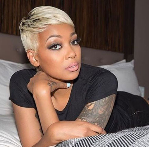 Blonde-Pixie-for-Black-Women Best Pixie Cuts for Blonde Hair