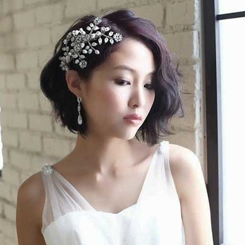 Bridal-Hair-Style Best Short Hairstyles for Wedding You Should See