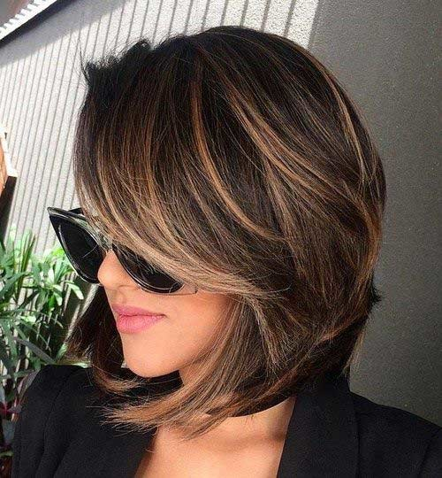 Brunette-A-Line-Bob Best Must-Try Brunette Bob Haircuts