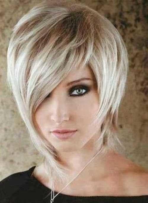 Classy-Short-Haircut Flattering Layered Short Haircuts for Thick Hair