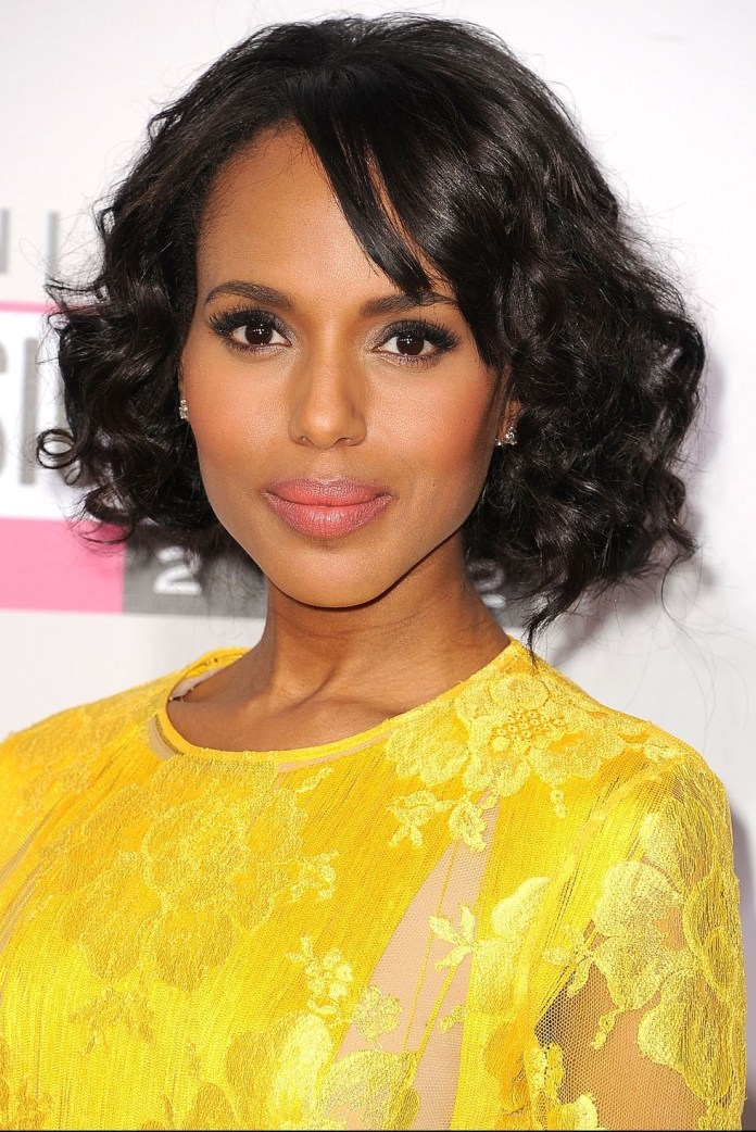 Curly-Bob-With-Bangs Best Short Hairstyles for Black Women