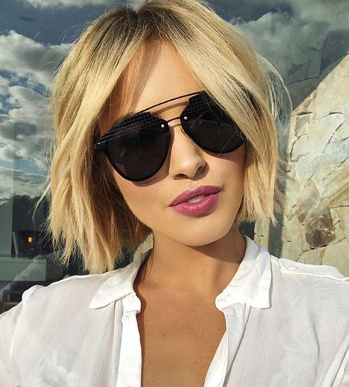 Cute-Blonde-Short-Hair Cute Short Haircuts and Styles Women